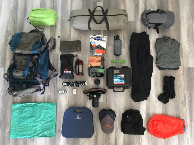 keji s backcountry beauty a photo essay hike nova scotia some but not all of my gear for the three day trip items pictured here water filter and bottle dehydrated food eating utensil bug net tent tarp